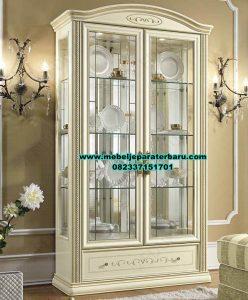 lemari kristal hias modern minimalis duco, lemari kristal, model lemari kristal, lemari hias, lemari kristal kaca, lemari pajangan, jual lemari kristal, lemari kristal duco