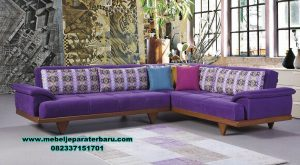 sofa ruang tamu jati sudut minimalis modern sst-331