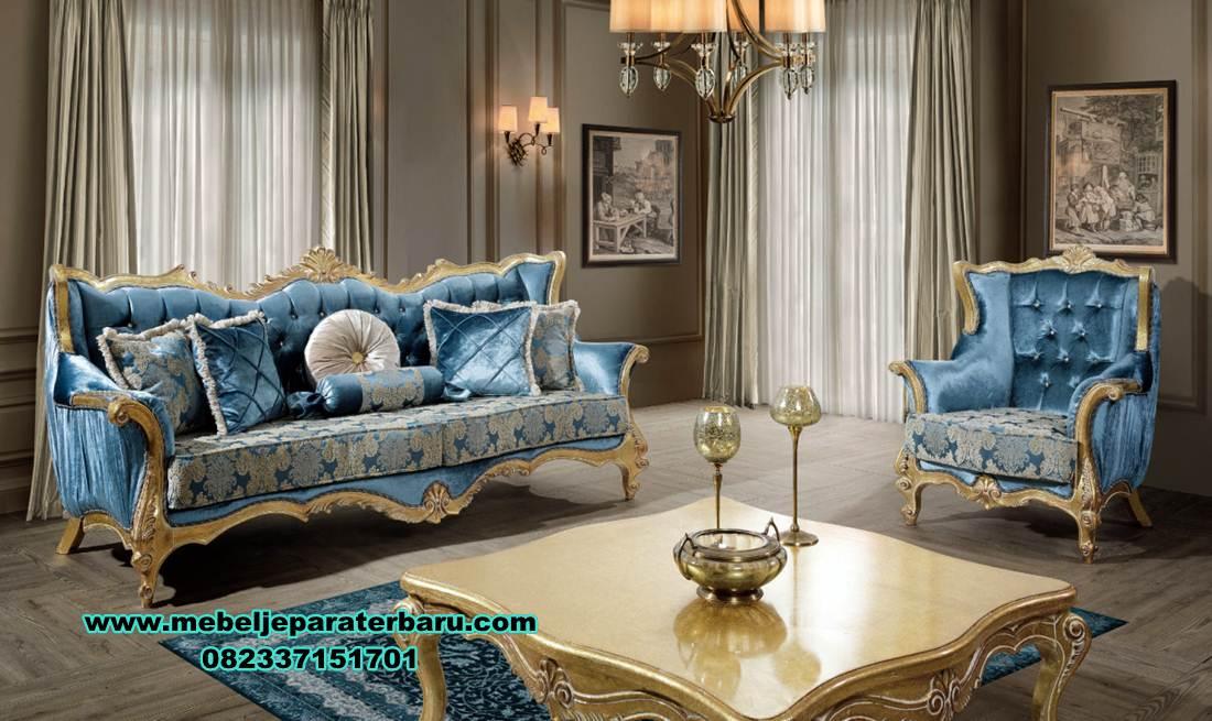 sofa ruang tamu mewah, sofa ruang tamu klasik, sofa tamu, sofa ruang tamu marvel mewah klasik terbaru, model kursi sofa tamu mewah klasik duco, set kursi tamu, model sofa tamu