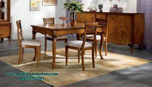 meja makan kayu jati minimalis klasik smm-321