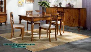 meja makan kayu jati minimalis klasik, meja makan kayu, set meja makan jati, meja kursi makan terbaru, set kursi makan, meja makan minimalis, meja makan klasik, meja makan mewah minimalis, set meja makan modern, meja makan mewah modern