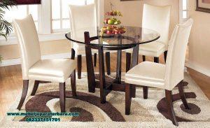 meja makan minimalis modern 4 kursi jati smm-320