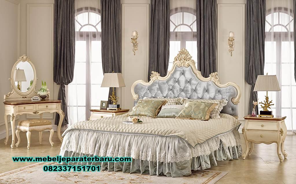 set tempat tidur klasik duco mewah terbaru, set tempat tidur klasik, set kamar klasik, set tempat tidur model terbaru, set tempat tidur mewah, dipan, kamar set, model set tempat tidur