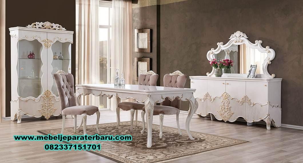 meja makan klasik, set kursi makan, meja kursi makan klasik mewah terbaru, meja makan klasik mewah, harga meja makan mewah, set meja makan model terbaru, meja makan minimalis modern