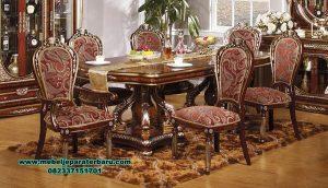 meja makan klasik jati terbaru wasil smm-325