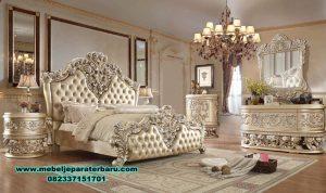 model tempat tidur klasik pengantin mewah ukir stt-171