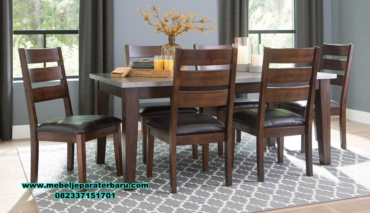 meja makan 6 kursi jati model minimalis, meja makan minimalis, meja set meja makan jati, model set meja makan, meja makan minimalis modern, meja kursi makan terbaru, set kursi makan, makan mewah minimalis