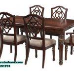 meja makan jati klasik ukir 6 kursi, meja makan klasik, meja set meja makan jati, gambar meja makan, meja kursi makan terbaru, set kursi makan, meja makan kayu, model kursi makan terbaru
