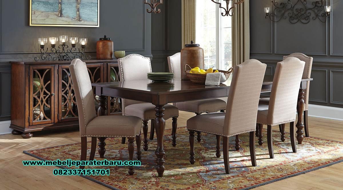 meja makan jati modern minimalis 6 kursi , set meja makan jati, meja makan minimalis modern, set meja makan modern, meja makan minimalis, meja kursi makan terbaru, set kursi makan