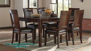 minimalis meja makan 6 kursi jati terbaru smm-330