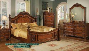 model tempat tidur jati ukir klasik moreno stt-173
