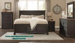 model tempat tidur klasik minimalis jati  stt-175