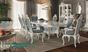 model meja makan klasik venez duco, model set meja makan klasik, set meja makan, set meja makan klasik, et meja makan klasik mewah, set meja makan mewah klasik