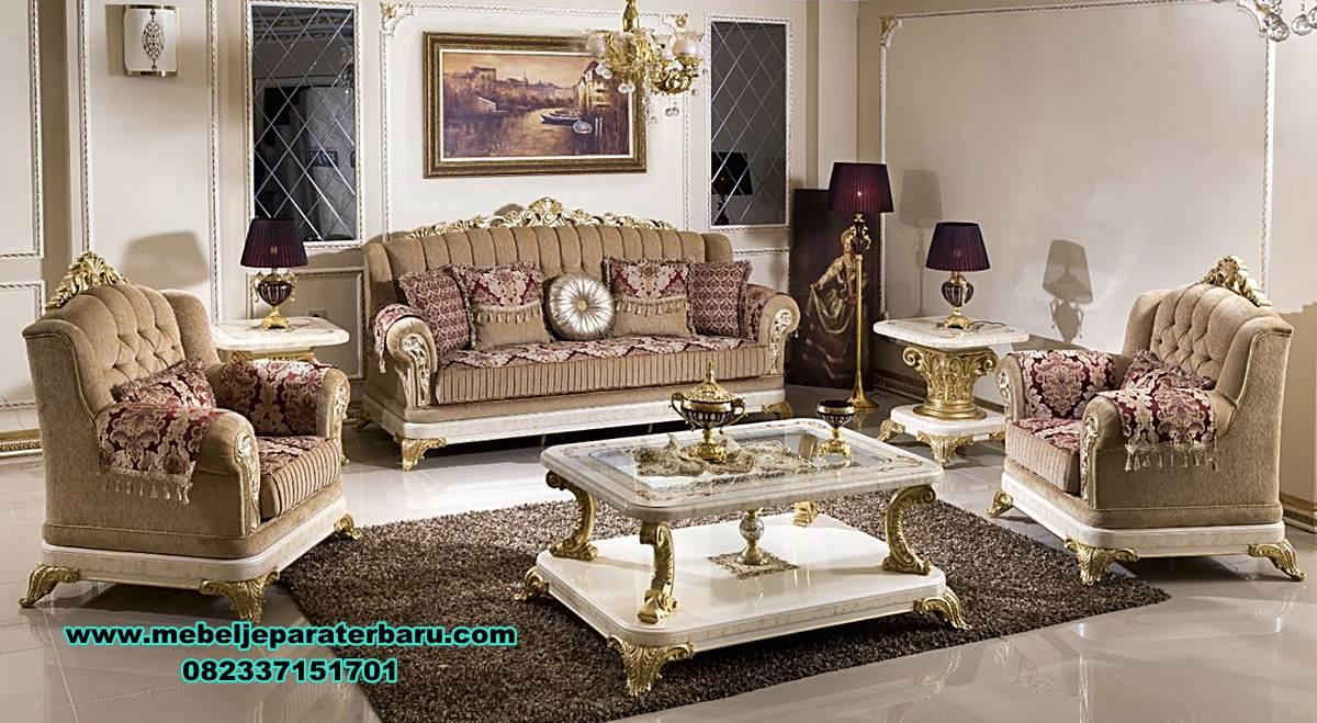 sofa ruang tamu ukiran klasik gold, sofa ruang tamu ukiran, sofa ruang tamu klasik, sofa tamu, kursi tamu klasik, model kursi sofa tamu mewah klasik duco, gambar kursi tamu jepara