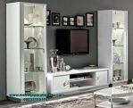 Bufet tv duco putih minimalis putih kaca italy Bt-169