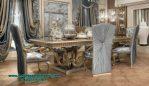 Model meja makan set mewah klasik ukiran luxury inova Smm-336