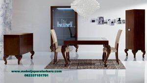 Model set meja makan minimalis jati terbaru luxury Smm-342