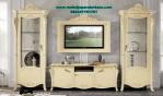 set bufet tv model klasik duco putih terbaru bt-163