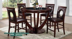 Set meja kursi makan modern minimalis Jepara suzaana Smm-343