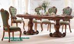 model meja kursi makan kayu jati klasik Smm-349