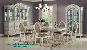 Set meja makan mewah duco rococo kayu mahoni Smm-344
