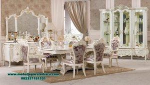 Set meja makan mewah modern ukiran klasik duco xavier Smm-350