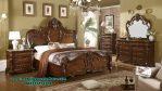 Set tempat tidur mewah klasik kayu jati nottingham Stt-193