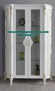 lemari hias duco putih modern 2 pintu lh-055