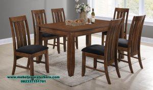 Meja kursi makan bellagio kayu jati berkualitas super Smm-366