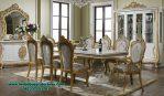 Meja kursi makan dining table set termewah gold Smm-362