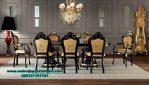 meja kursi makan klasik jati Jepara termewah Smm-354