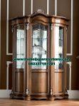 model lemari hias jati klasik walnut luxury furniture lh-054