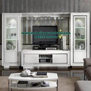 Model set bufet tv modern minimalis duco bianca white Bt-187