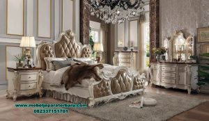 Set kamar tidur utama super mewah antik picardy Stt-202