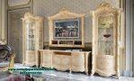 Set lemari hias dan bufet tv klasik mewah madame royal Lh-061