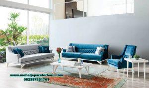 Set sofa ruang tamu modern minimalis duco putih luna koltuk Sst-382
