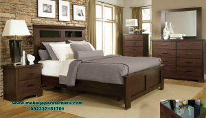set tempat tidur kayu jati minimalis mewah ikea set stt-206