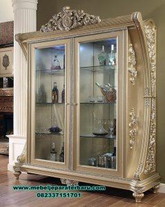 Lemari hias model luxury mewah duco ukiran grizella Lh-066