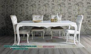 Model set meja makan modern duco klasik sultan Smm-378