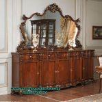 Set meja konsul klasik kayu jati salak brown furniture Mr-156