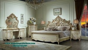 Set tempat tidur ukiran klasik mewah alexaviera mebel Stt-213
