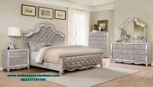 Tempat tidur bed room set mewah modern homes furniture Stt-209