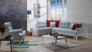 Jual sofa ruang tamu L modern terbaru dan terkini Sst-397