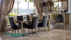 Meja makan modern mewah duco gold luxury Smm-381