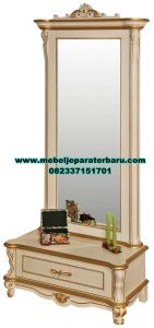meja rias kaca modern simpel sederhana elegan mrk-168