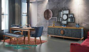 Set meja makan kayu jati modern minimalis dan berkualitas Smm-382
