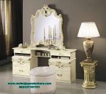 Set meja rias modern duco putih malika Mrk-165