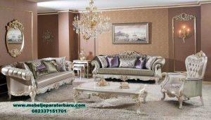 Sofa ruang tamu set finishing duco mewah ukir Sst-395