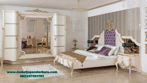 Tempat tidur bed room set cat duco luks mewah sarya Stt-226