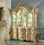 design lemari hias ukir klasik mebel jepara terbaru gold duco lh-080